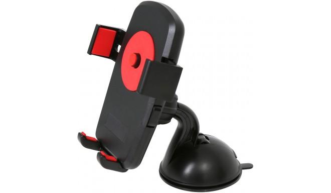 Omega telefonihoidik autosse & rattale OUBCHKR, punane