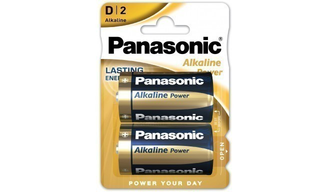 Panasonic Alkaline Power battery LR20APB/2BP