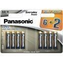 Panasonic patarei LR6EPS/8B (6+2)