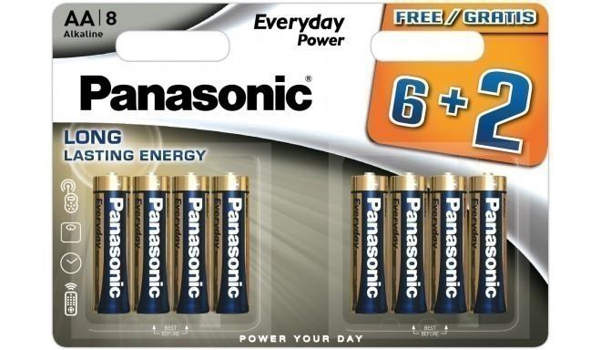 Panasonic Everyday Power patarei LR6EPS/8B (6+2)