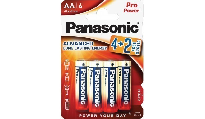 Panasonic Pro Power patarei LR6PPG/6B (4+2 tk)