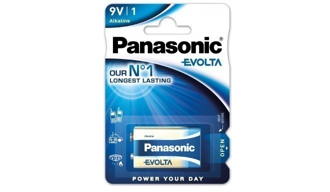 Panasonic Evolta patarei 6LR61EGE/1B 9V