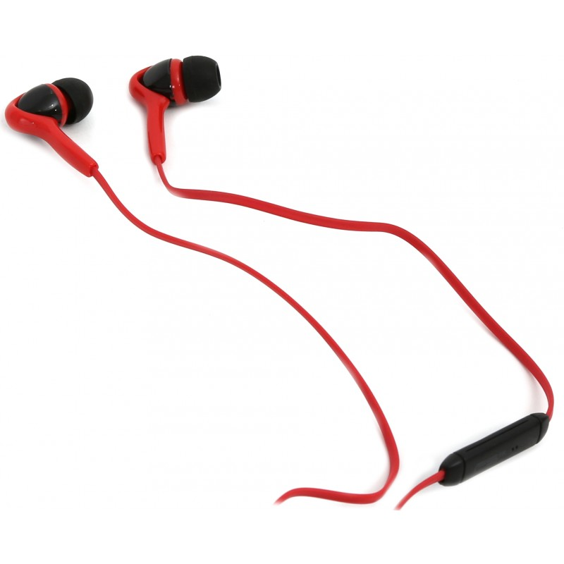 Omega Freestyle earphone + microphone FH1012, red