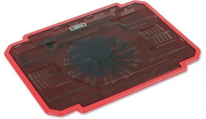 Omega охлаждающая подставка для ноутбука Ice Box, красный