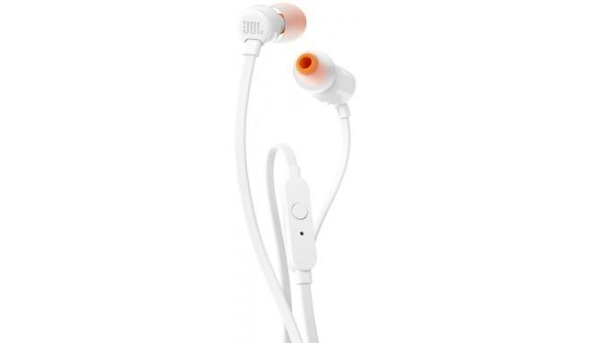 JBL kõrvaklapid + mikrofon T110, valge