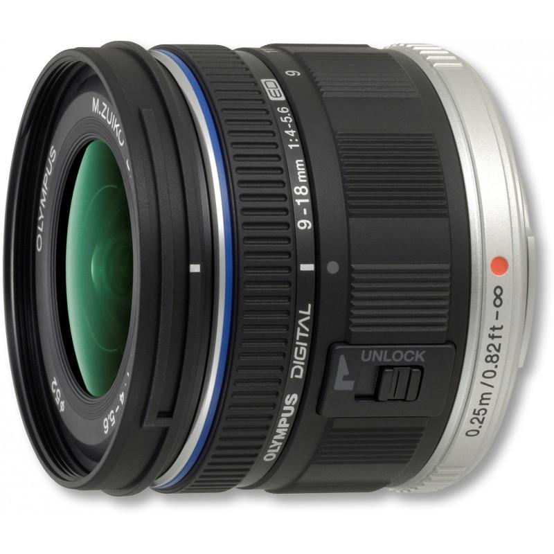 M.Zuiko Digital ED 9-18mm f/4.0-5.6 lens, black