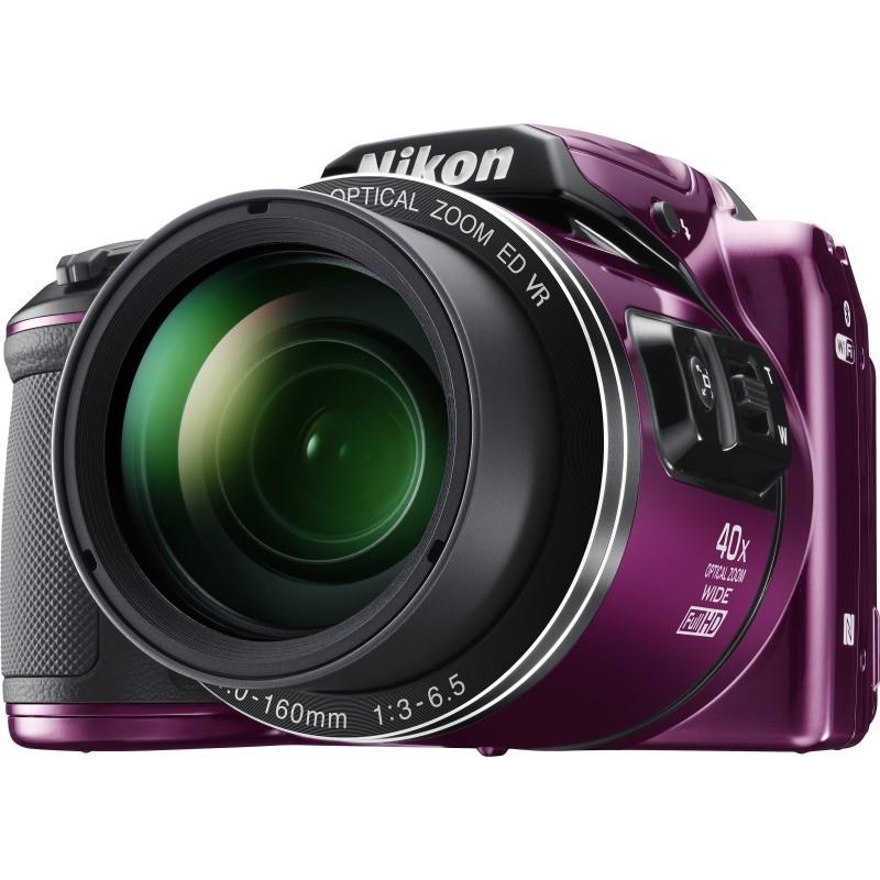 Nikon Coolpix B500 purple pact cameras point