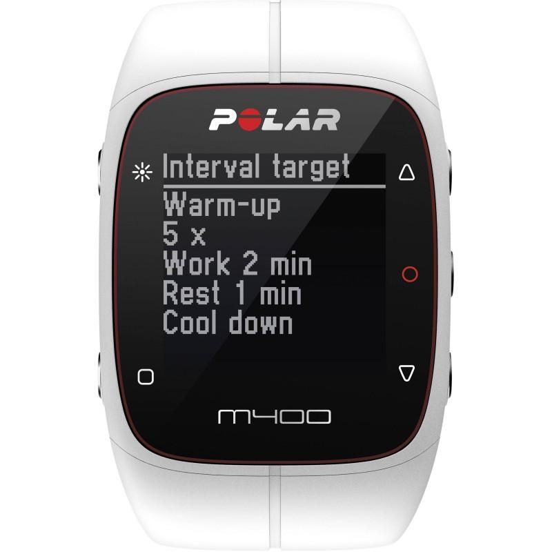 Polar M400 HR, valge