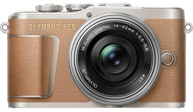 Olympus PEN E-PL9 + 14-42mm Kit, pruun/hõbe