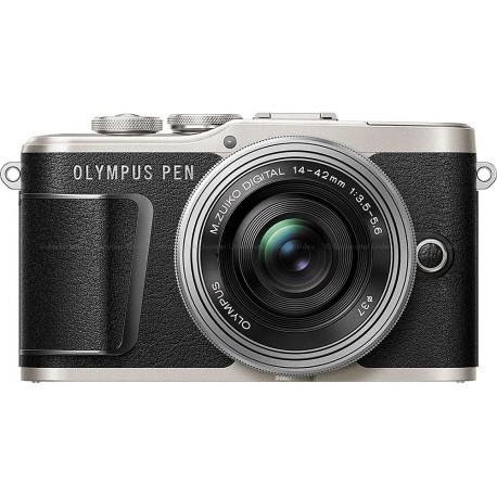 Olympus PEN E-PL9 + 14-42 мм EZ Kit, черный/серебряный