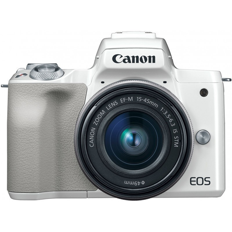 Canon EOS M50 + EF-M 15-45mm IS STM, valge