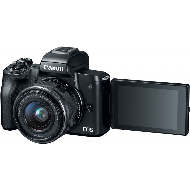 Canon EOS M50 + EF-M 15-45mm IS STM, must