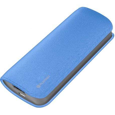 Platinet power bank Leather 5200mAh, синий (43409)