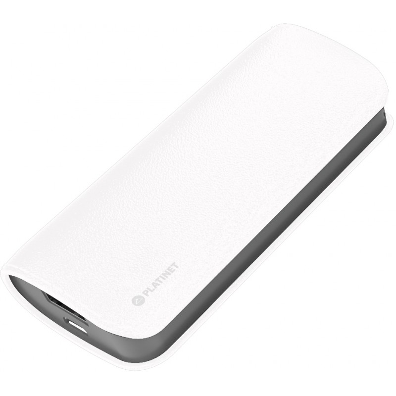Platinet power bank Leather 5200mAh, white (43411)