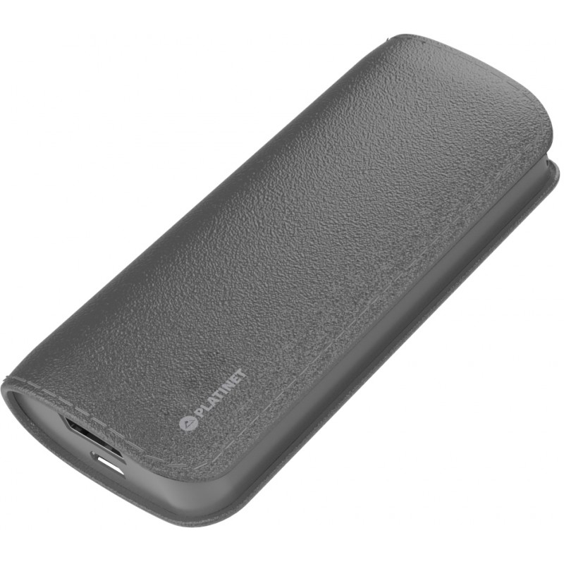 Platinet power bank Leather 5200mAh, grey (43410)