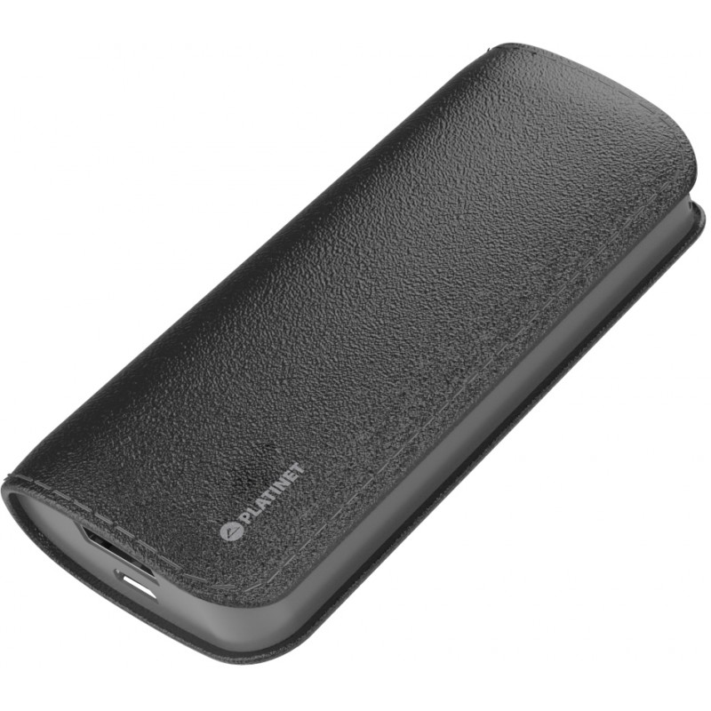 Platinet power bank Leather 5200mAh, black (43408)