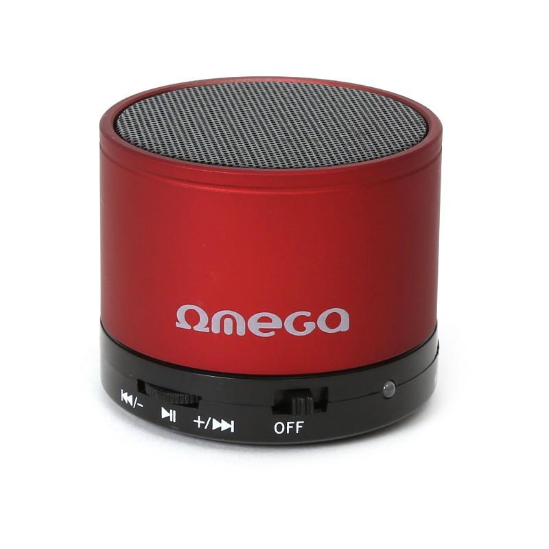 Omega Bluetooth speaker V3.0 Alu 3in1 OG47R, red (42646)