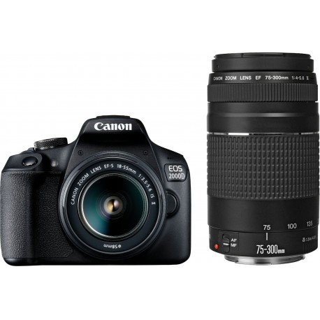 Canon EOS 2000D + 18-55 мм IS + 75-300 мм Kit