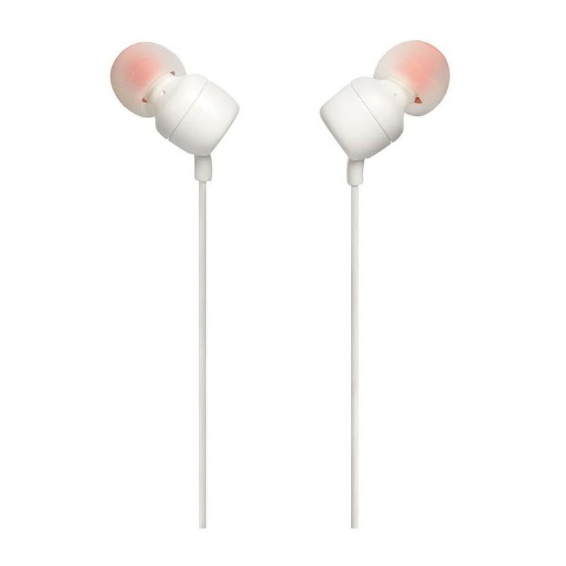 JBL juhtmevabad kõrvaklapid + mikrofon T110BT, valge