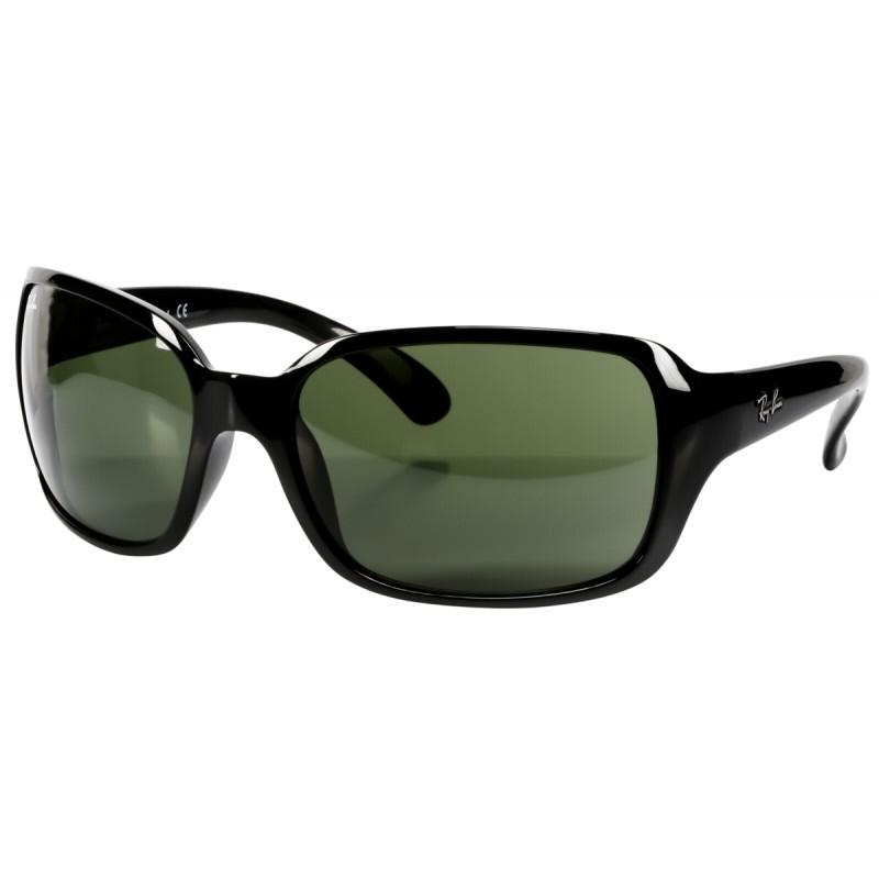 RayBan Highstreet RB4068 601 60 black solid   crystal green ... 9b6884cc8c98