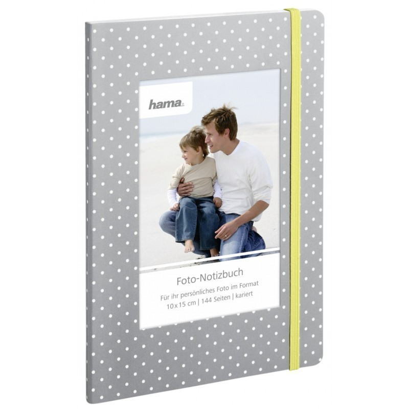 hama photo notebook isa 15x21 144 quad paper dots 2093 photo