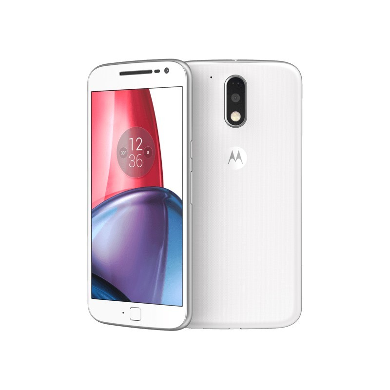 Motorola Moto G4 Plus White Smartphones Photopoint