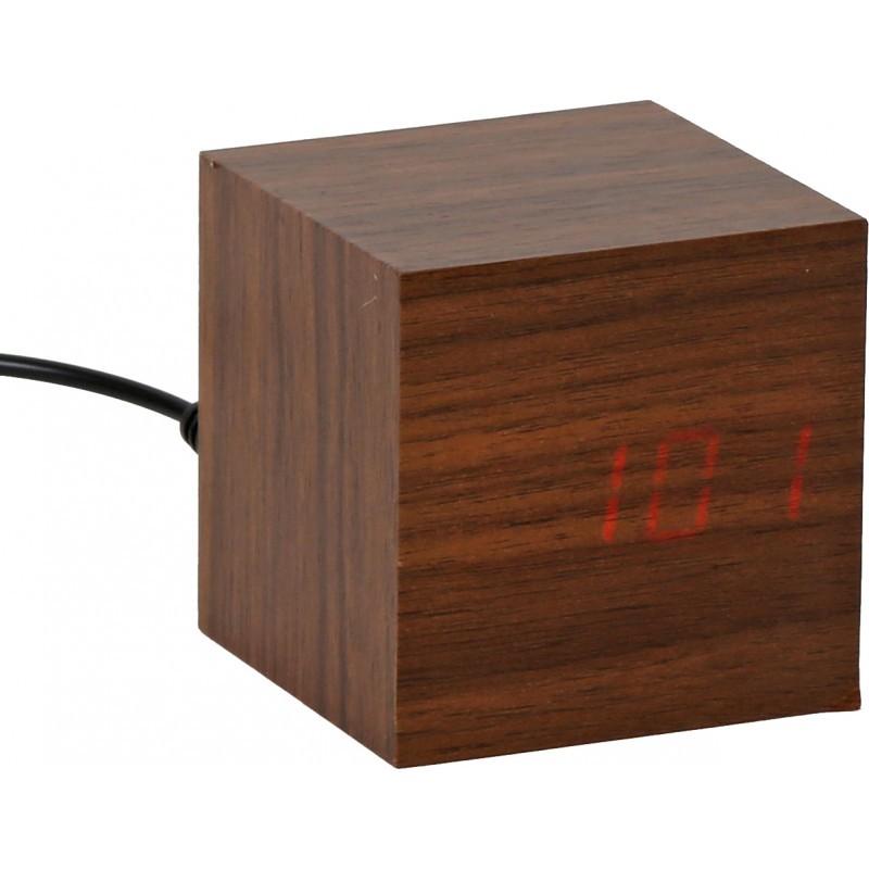 Platinet äratuskell Wooden Cube (43242)