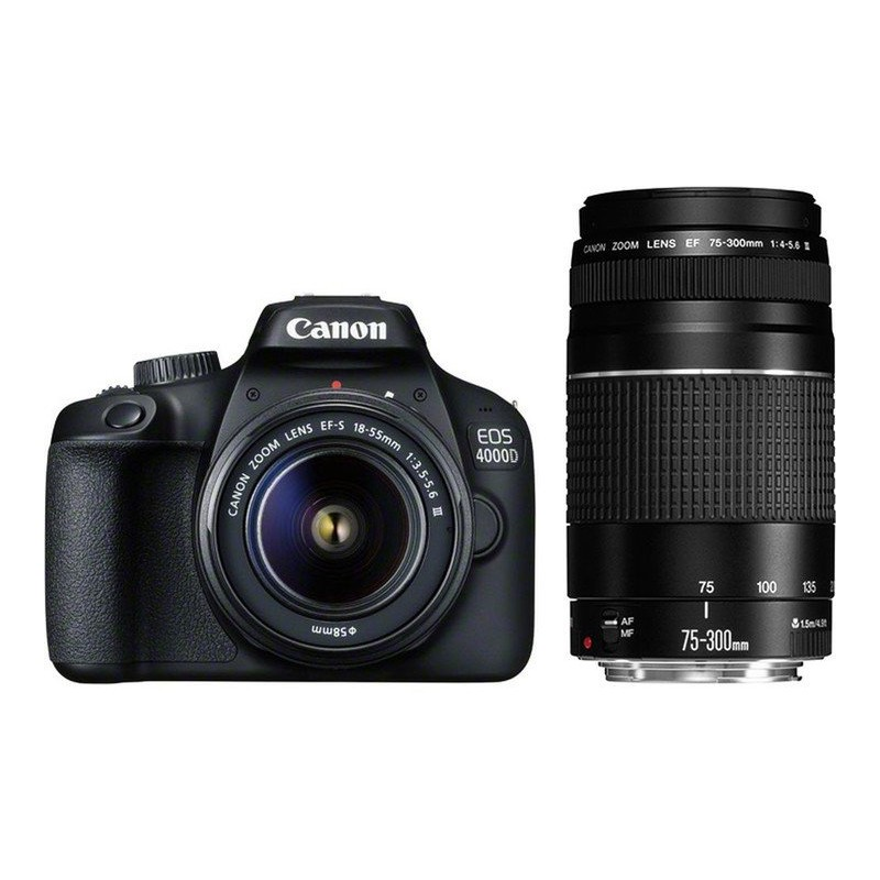 Canon EOS 4000D + 18-55mm III + 75-300mm III Kit