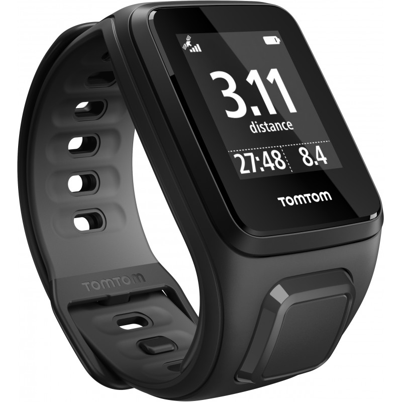 TomTom Runner 2 Cardio + Music S, must/hall