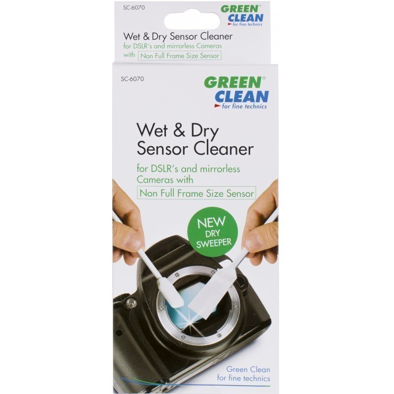 Green Clean sensor cleaning kit Wet Foam Swab & Dry Sweeper (SC-6070)