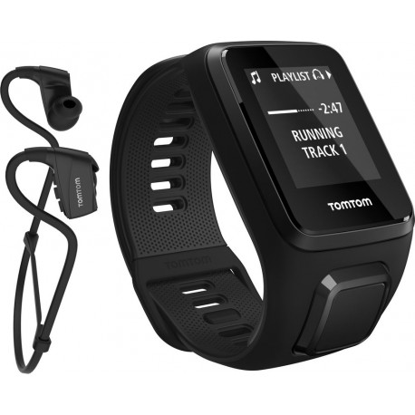TomTom Spark 3 Cardio + Music S, must + Bluetooth kõrvaklapid