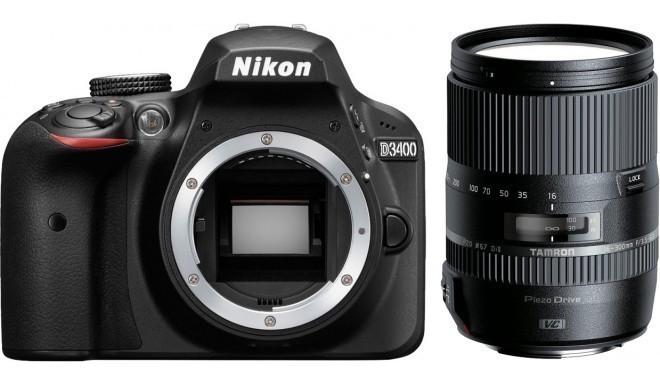 Nikon D3400 + Tamron 16-300мм, черный