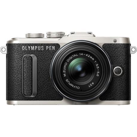 Olympus PEN Lite E-PL8 + 14-42mm EZ Kit, melns