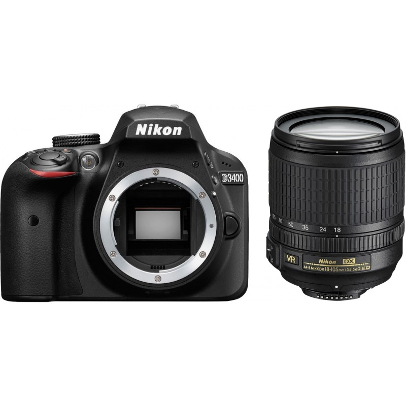 Nikon D3400 + 18-105mm AF-S VR Kit, must
