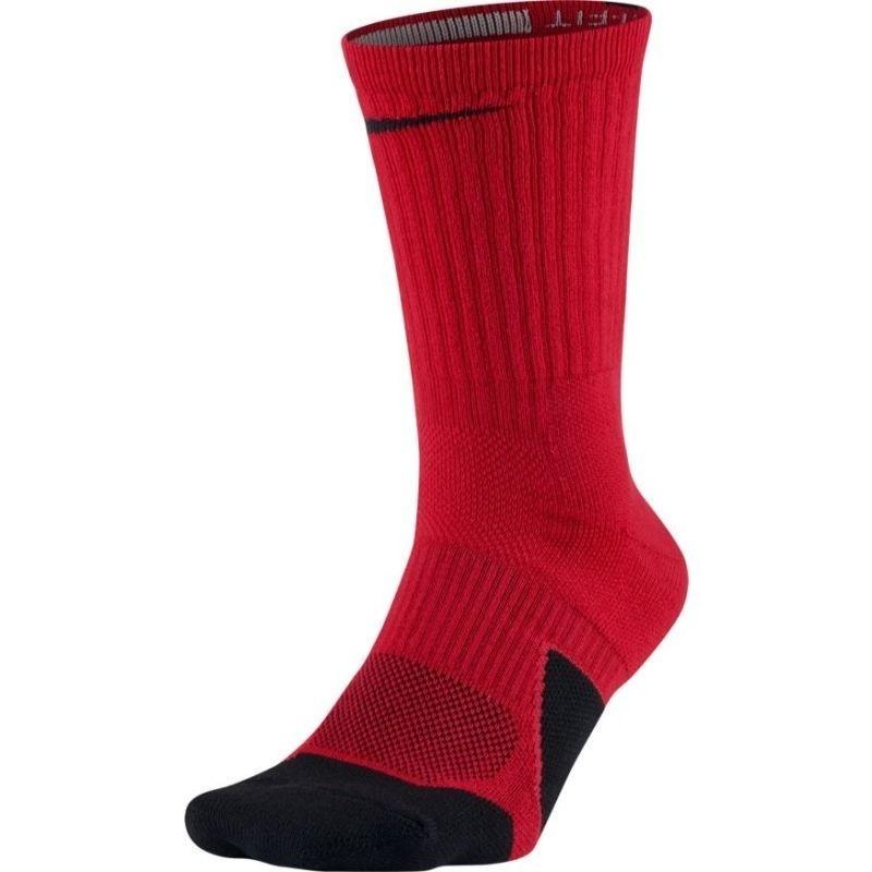 0d8d0f7baeaaa6 Basketball socks for men Nike Dry Elite 1.5 Crew Basketball M SX5593-657  punane. Product photos