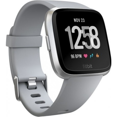 Fitbit Versa, серый/серебряный