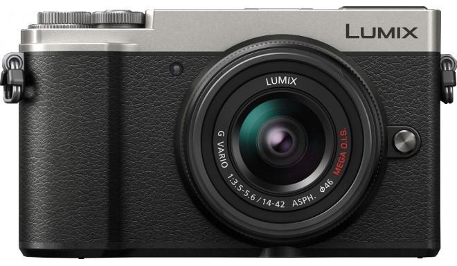 Panasonic Lumix DC-GX9 + 14-42 мм Kit, серебряный