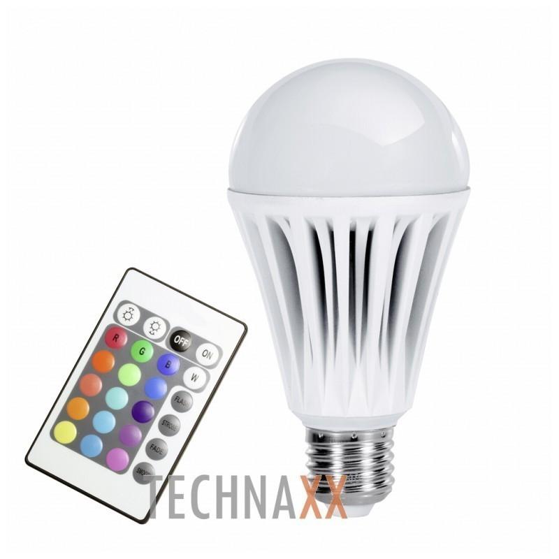 technaxx led rgb lamp e27 10w bluetooth nutipirnid photopoint. Black Bedroom Furniture Sets. Home Design Ideas