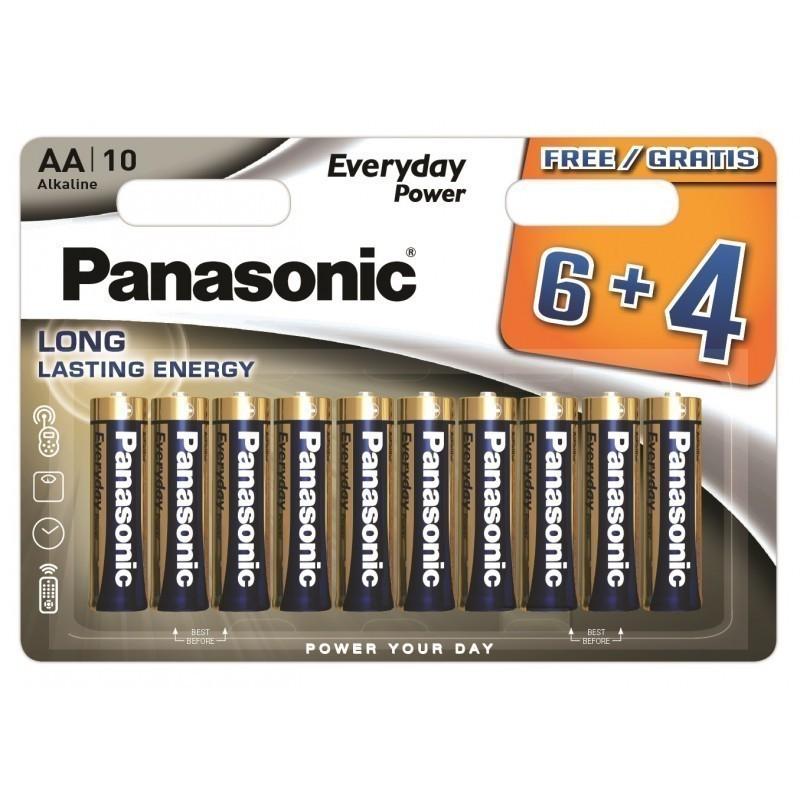 Panasonic Everyday Power patarei LR6EPS/10BW (6+4)