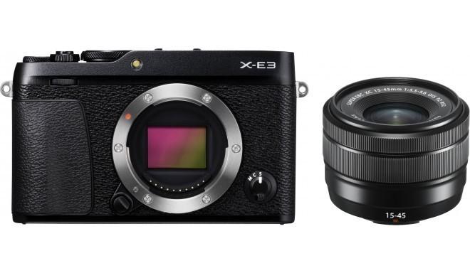 Fujifilm X-E3 + 15-45mm Kit, melns