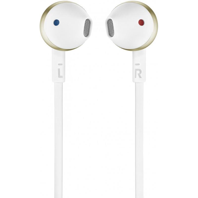 JBL juhtmevabad kõrvaklapid + mikrofon Tune T205 BT, kuldne
