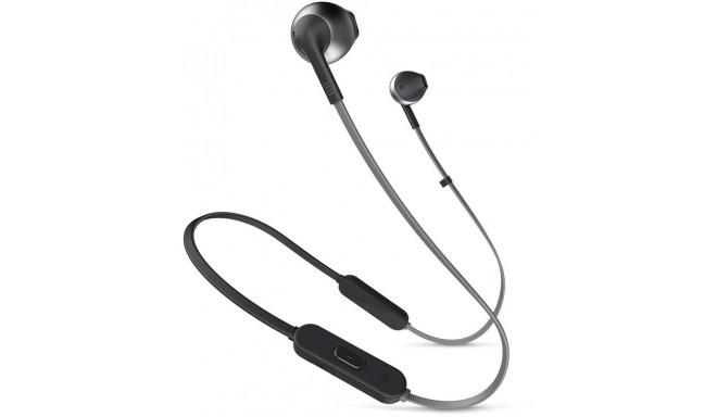 JBL juhtmevabad kõrvaklapid + mikrofon Tune T205 BT, must