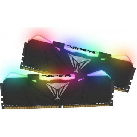 Patriot RAM Viper RGB DDR4 16GB DUAL KIT (2x8GB) 3600Mhz CL16, BLACK - RAM  - Photopoint