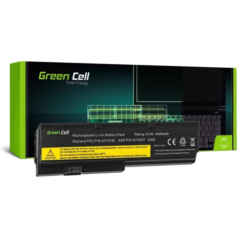 Battery Green Cell for Lenovo IBM Thinkpad X200 7454T X200 745