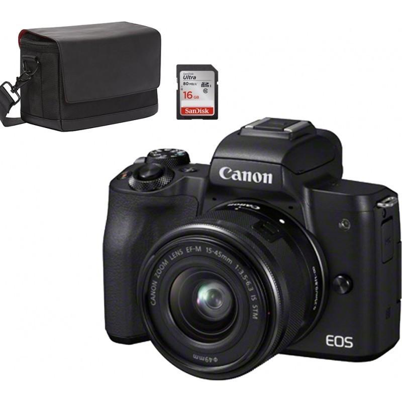Canon EOS M50 + EF-M 15-45mm + kaamerakott SB130 + mälukaart 16GB