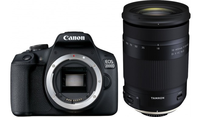 Canon EOS 2000D + Tamron 18-400 мм VC