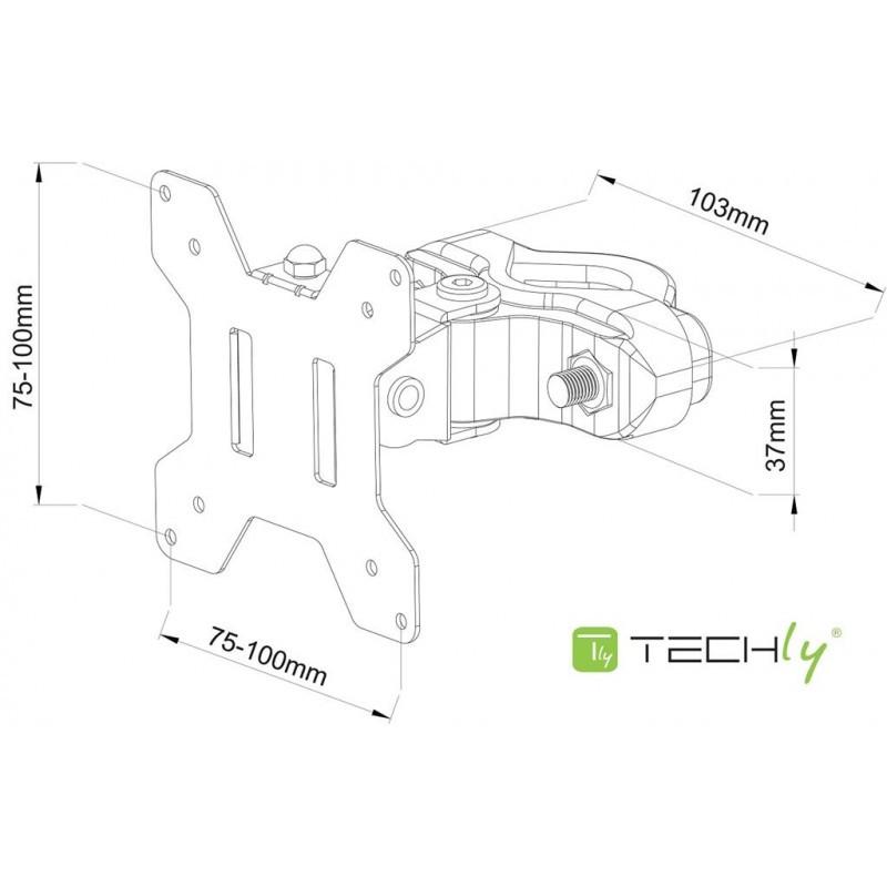 Lcd Monitor Mount 13 30 10kg Vesa Adjustable