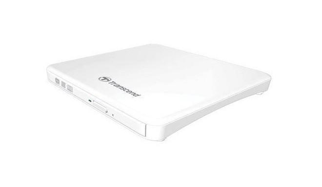Transcend väline DVD-kirjutaja Slim TS8XDVDS, valge