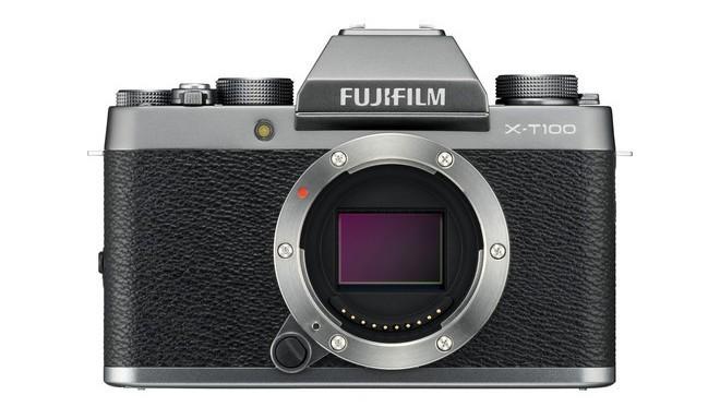 Fujifilm X-T100 korpuss, tumši sudrabots