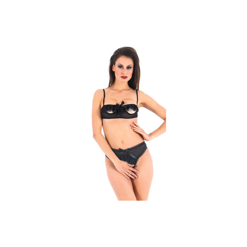 b38f3ef436a62 Vixson Mesh Bra Set With Open Cups And Open Crotch (S M) - Underwear ...